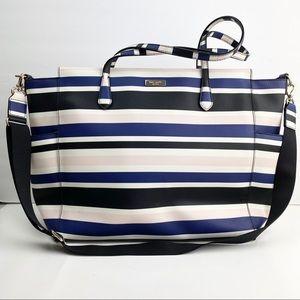 Kate Spade Kaylie Baby Bag Laurel Way Stripe Tote